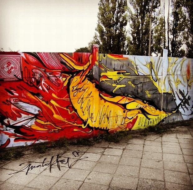 Farb w p ot czyli malowanie murali na m ocinach for Mural ursynow