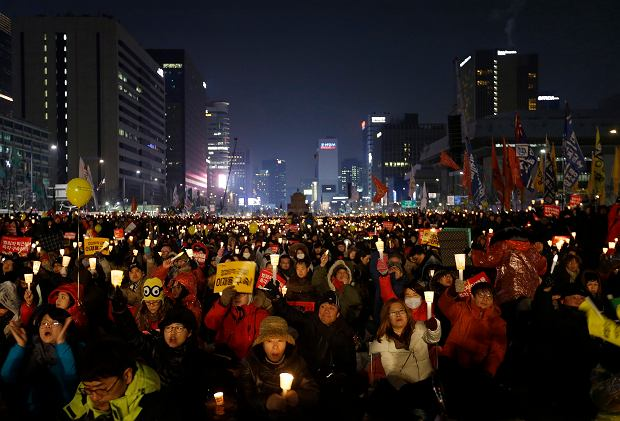 Seul, protest przeciwko prezydent Park Geun Hie