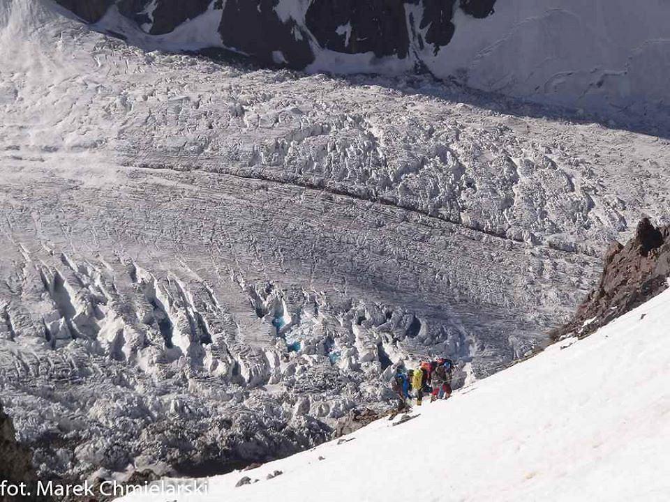 Podejście do obozu I na K2