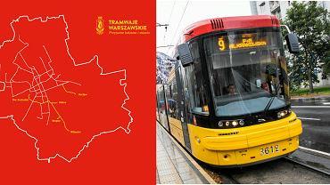 Warszawski tramwaj i mapa linii