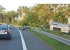 Zmar� motocyklista poszkodowany w wypadku