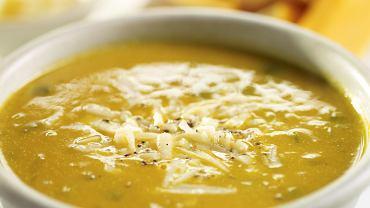 Kremowa zupa z dyni z papryką i kukurydzą