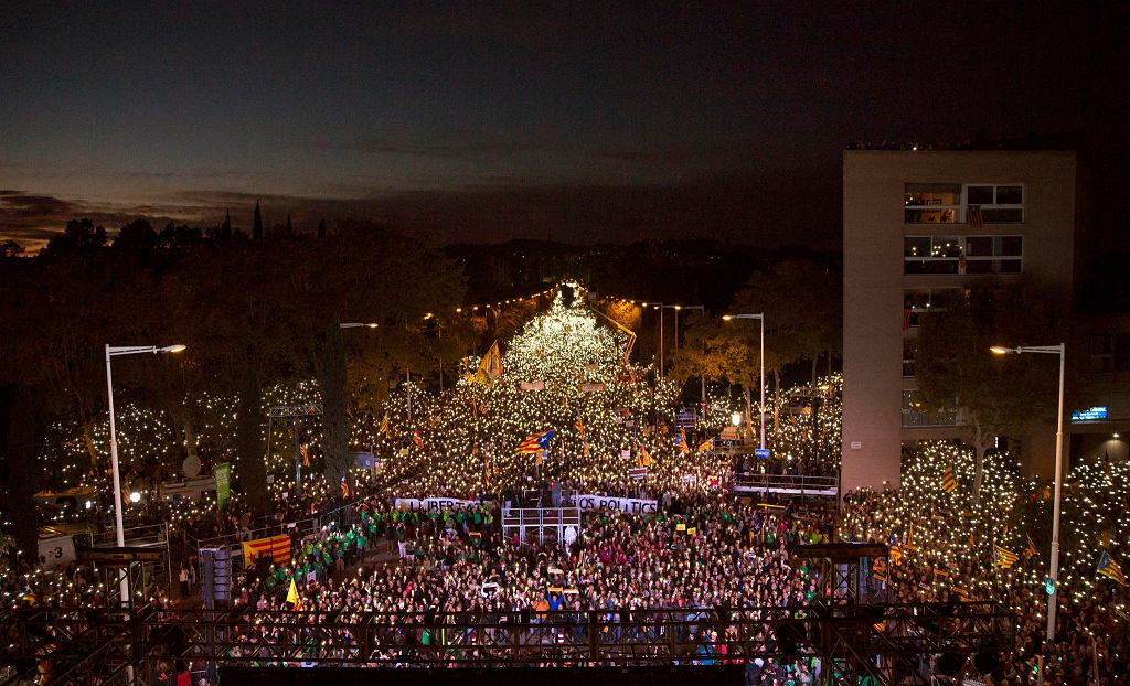 Demonstracja w Barcelonie zwolenników niepodległości Katalonii zgromadziła 750 tys. uczestników
