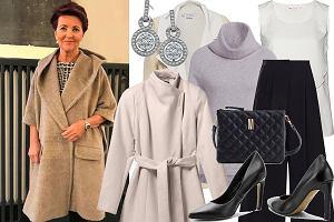 Jolanta Kwaśniewska wybrała na jesień piękny płaszcz. Cena jest wysoka, ale mamy tańsze zamienniki!
