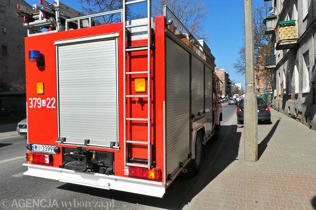 Straż pożarna dostała zgłoszenie w czwartek o godzinie 10