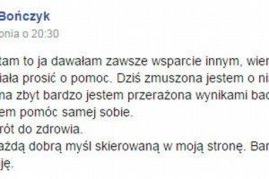 Olga Bo�czyk powa�nie chora? Dramatyczny apel do fan�w, niepokoj�ce doniesienia tabloid�w. Jest kolejny wpis aktorki