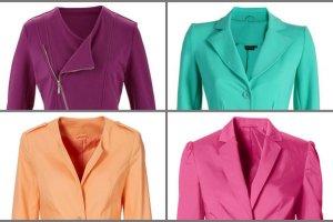 Kolorowy żakiet zamiast kurtki - ponad 100 propozycji