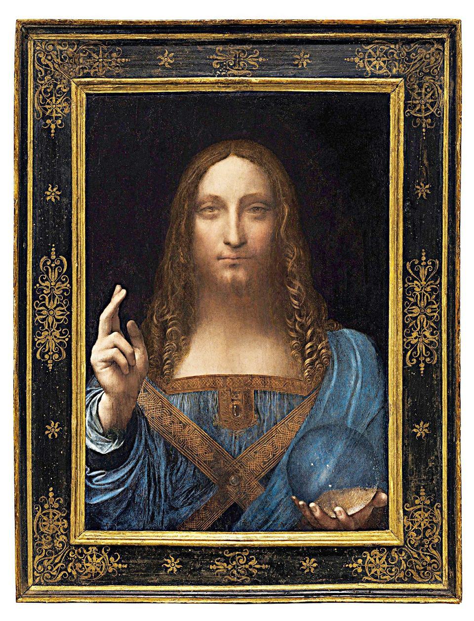 Na zdjęciu: 'Salvator Mundi' został sprzedany w listopadzie ub.r. na aukcji w nowojorskim Christie's za 450,3 mln dol. To rekord wszech czasów