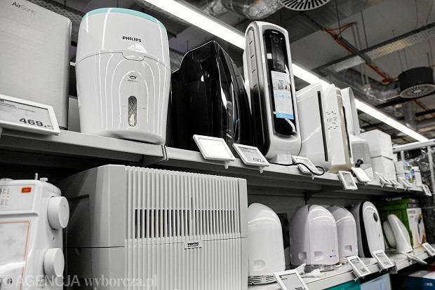 Oczyszczacze powietrza w sklepie
