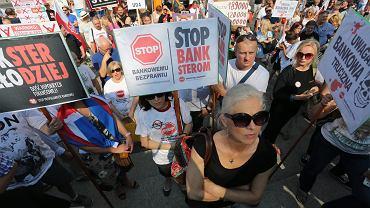 Demonstracja Frankowiczów. Warszawa, 10 września 2016