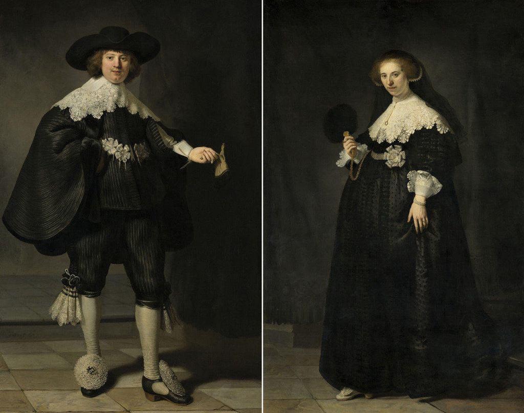 Najgłośniejszymi eksponatami pokazu będą wizerunki Martena Soolmansa i Oopjen Coppit, które Rembrandt van Rijn namalował z okazji ich ślubu w 1634 roku / Amsterdam Rijksmuseum