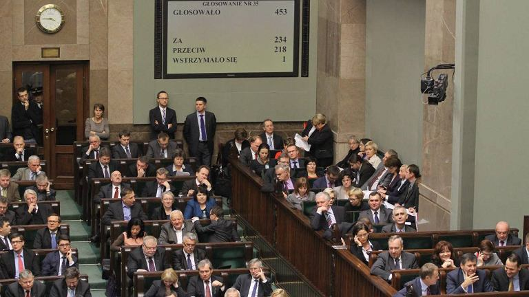 Sejm podczas dzisiejszych głosowań