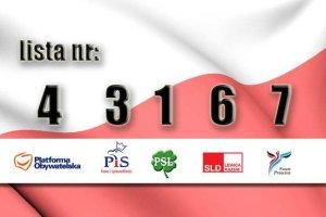 Wylosowano numery list komitet�w wyborczych. PO za PiS