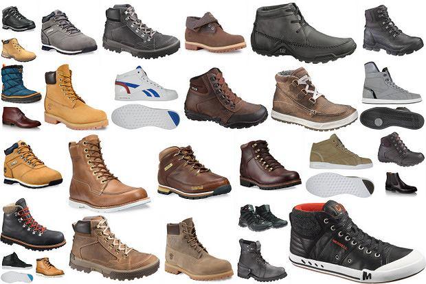 Męskie buty za kostkę na jesień 2012