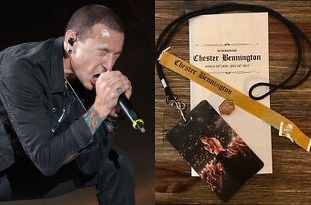 Identyfikator, przypinka, opaska na rękę i program ceremonii, jakie rozdawano uczestnikom pogrzebu Chestera Benningtona, trafiły na eBay.