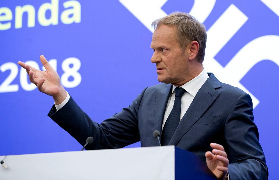 Donald Tusk podczas szczytu w Sofii