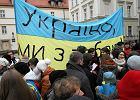 Oko�o 200 os�b we Wroc�awiu manifestowa�o poparcie dla Ukrainy