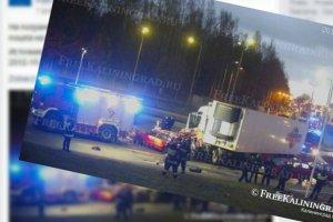 Ciężarówka staranowała przejście graniczne w Gołdapi