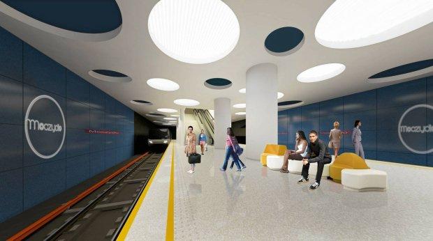 Tak może wyglądać stacja metra Moczydło