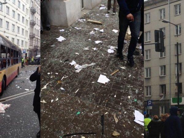 Wybuch w kamienicy w centrum Warszawy. Z budynku wyniesiono dwie butle gazowe