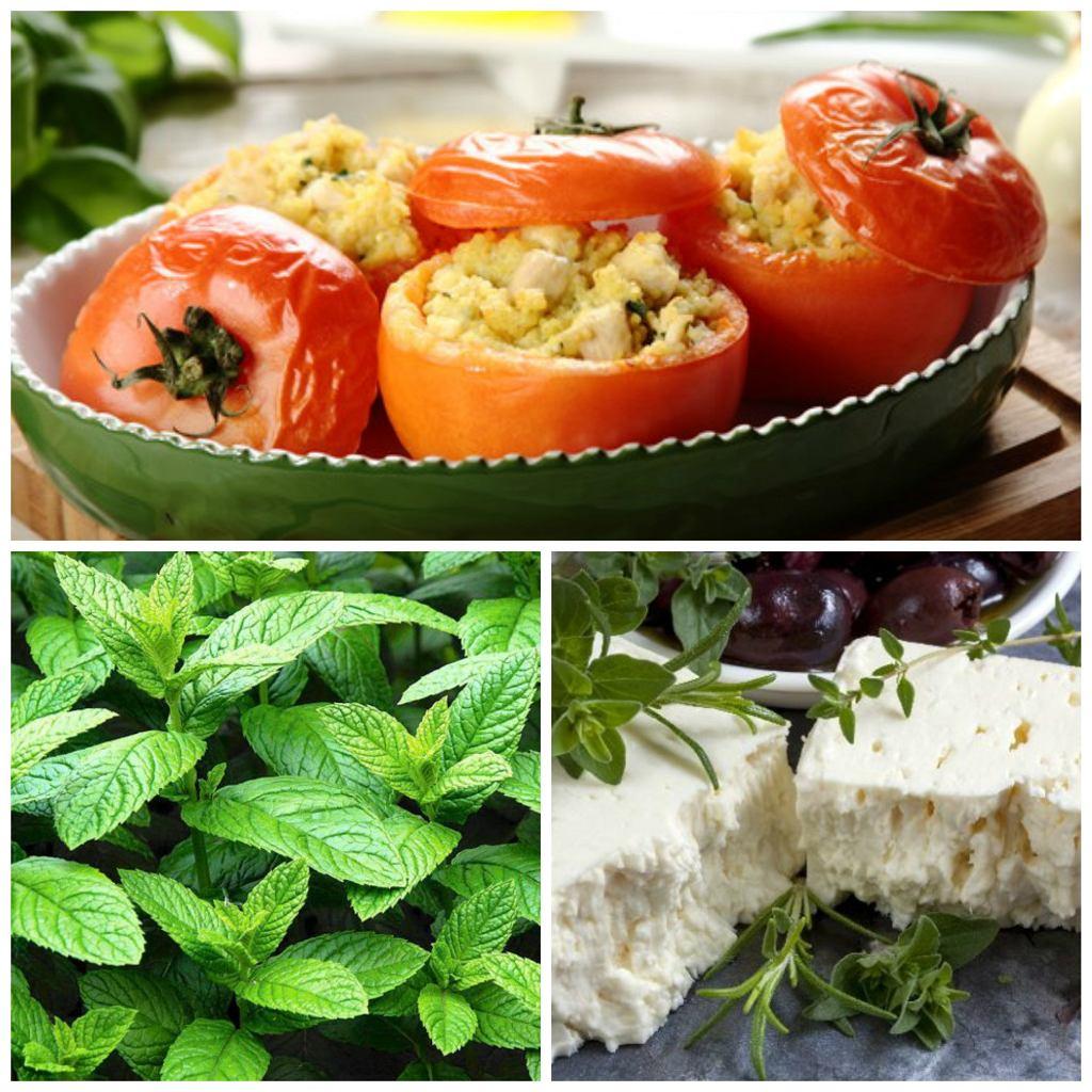 Pomidory faszerowane kaszą kuskus