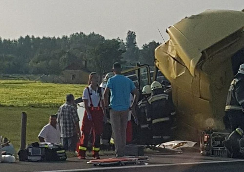 Węgry. Wypadek polskiego autokaru