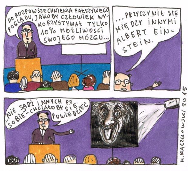 Raczkowski o mózgu -  - rys. Marek Raczkowski