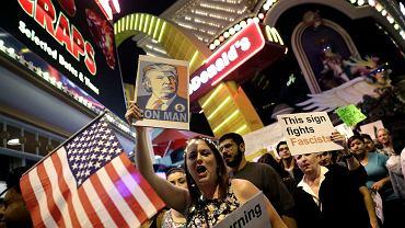 Protest przeciwko wygranej Donalda Trumpa. Las Vegas, 12.11.2016