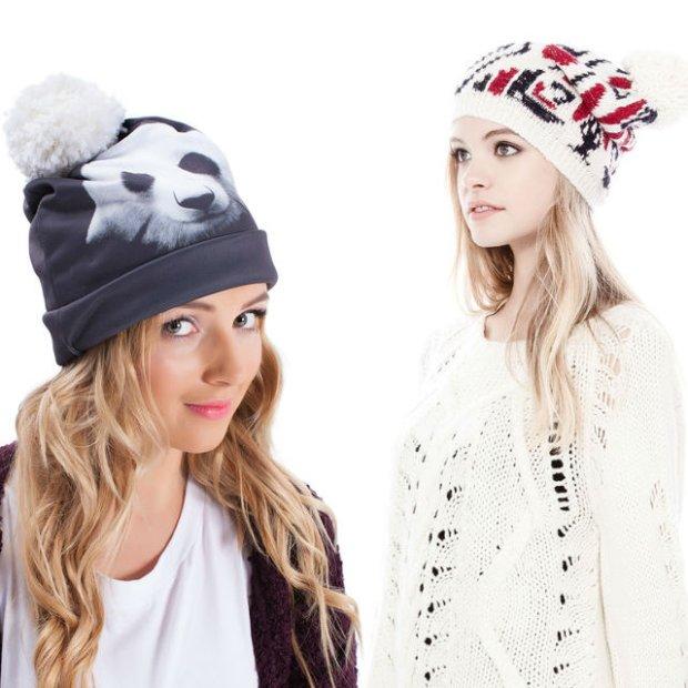 Ciep�e czapki na zim�