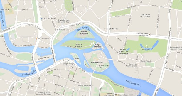 Google zabra�o Odr�. P�ynie dopiero od niemieckiej granicy