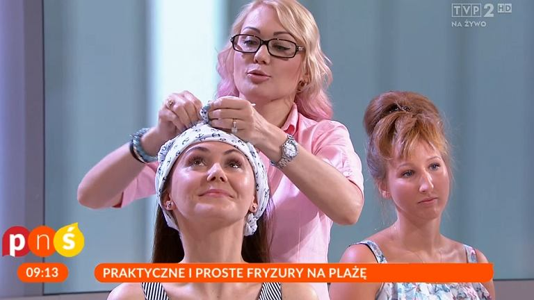 Modne fryzury na plażę według TVP
