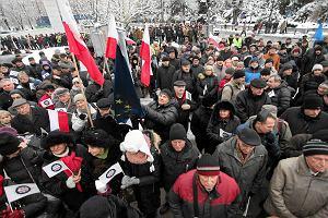 Mundurowi protestowali przeciwko obniżce emerytur. Ustawa dezubekizacyjna w Sejmie