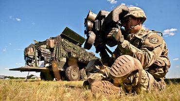 Amerykańscy żołnierze podczas wczorajszych ćwiczeń na lotnisku w Pawłówku koło Bydgoszczy