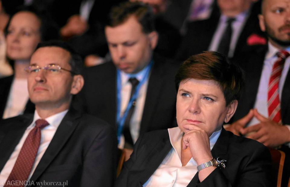 Premier Beata Szydło i wicepremier Mateusz Morawiecki na Europejskim Kongresie Gospodarczym w Katowicach