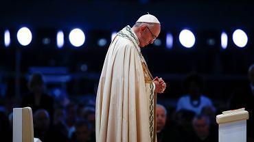 Papież Franciszek podczas czuwania modlitewnego w Brzegach, sobota 30 lipca