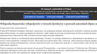 7380b53aa9 Wikipedia nie działa. To protest przeciwko unijnej dyrektywie o prawie  autorskim ...