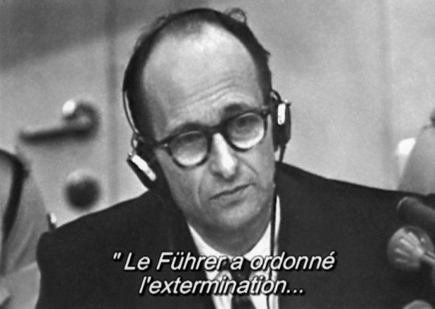Adolf Eichmann podczas procesu w Jerozolimie
