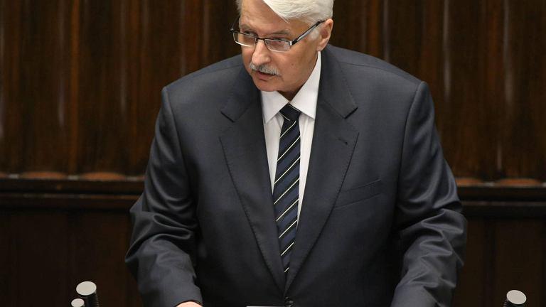 Minister Waszczykowski przedstawia priorytety rządu ws. polityki zagranicznej