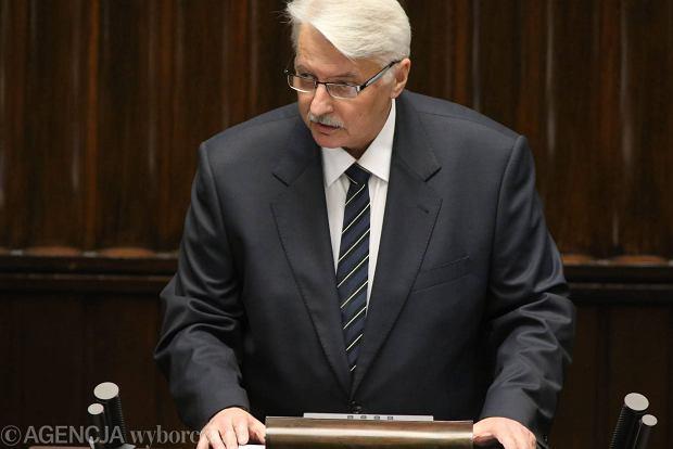Minister Waszczykowski przedstawia priorytety rz�du ws. polityki zagranicznej