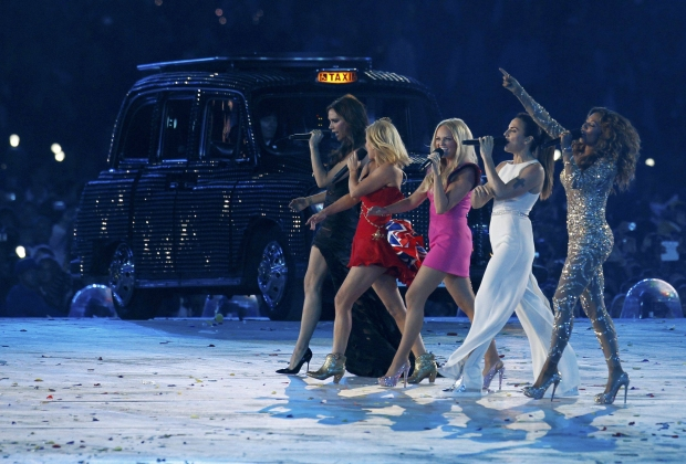 The Spice Girls perform during the closing ceremony of the London 2012 Olympic Games at the Olympic Stadium, August 12, 2012.        REUTERS/Gary Hershorn (BRITAIN  - Tags: SPORT OLYMPICS ENTERTAINMENT)