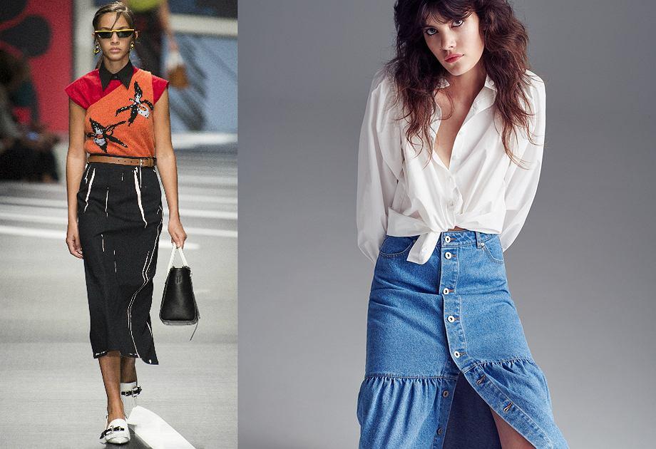 34d9dae555 Najmodniejsze spódnice na rok 2018 - trzy fasony z wybiegów łatwe do ...