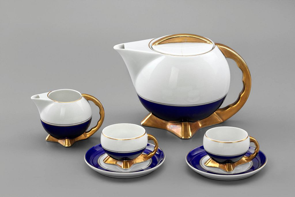 Naczynia z serwisu 'Kula', 1932 - 1934, projektant Bogdan Wendorf, produkcja Fabryka Porcelany i Wyrobów Ceramicznych 'Ćmielów'  / LIGIER PIOTR