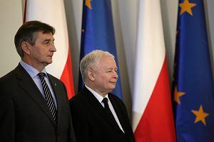 Liderzy partii spotkaj� si� z Kaczy�skim. B�d� rozmawia� o kompromisie