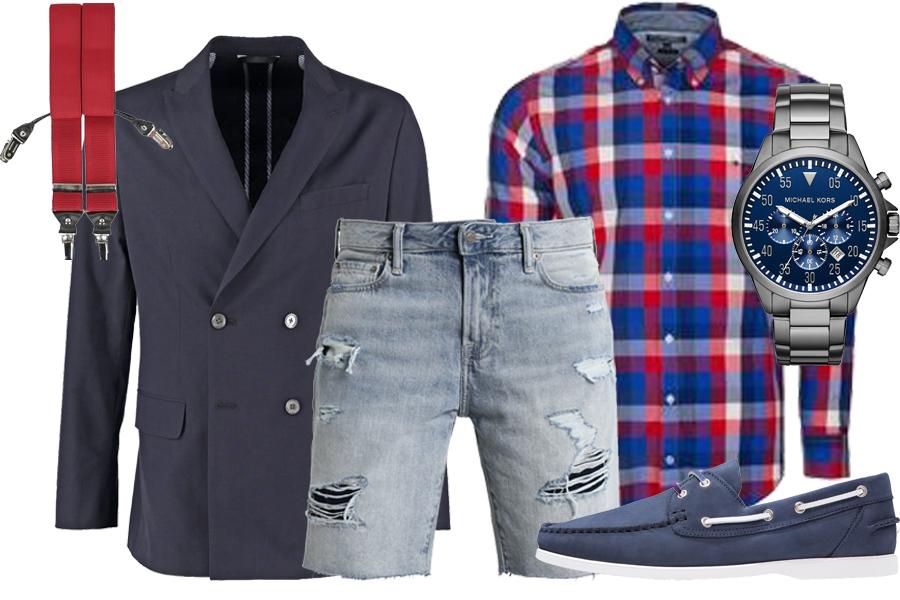 Stylizacja koszula w kratę / Kolaż / Materiały partnera