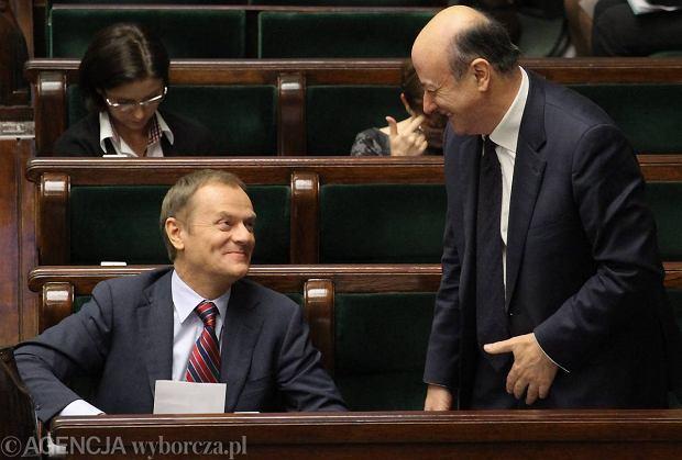 Premier Donald Tusk i minister finans�w Jacek Rostowski