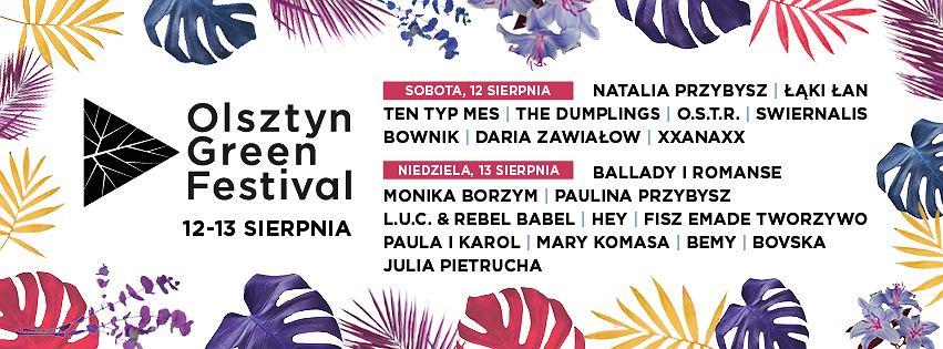 Olsztyn Green Festival 2017 / materiały promocyjne