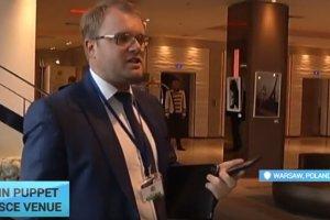 """""""Wicepremier"""" Krymu oblany kaw� na konferencji w Warszawie. Sprawc� ukrai�ski ambasador?"""