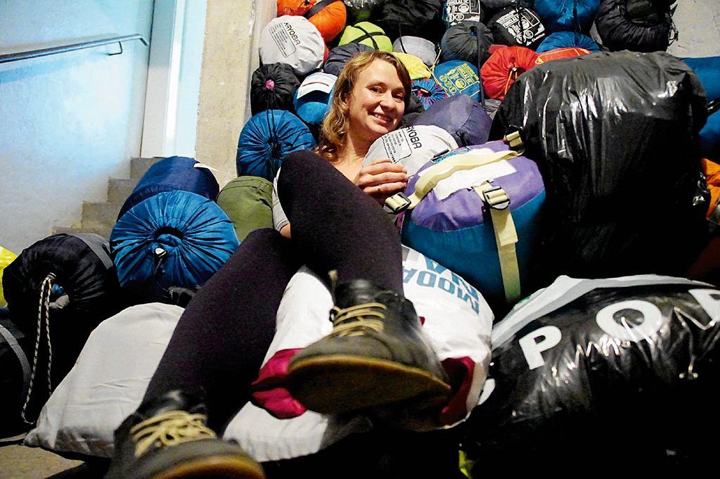 Anna Alboth, organizatorka wielkiej, spontanicznej zbiórki śpiworów dla imigrantów