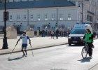 Zbigniew Stefaniak na trasie 9. PZU P�maratonu Warszawsiego