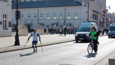 Zbigniew Stefaniak na trasie 9. PZU Półmaratonu Warszawsiego